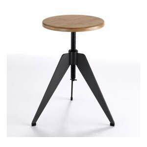 Barová stolička so sedadlom z dubového dreva Tomasucci Arco