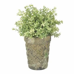 Zeleno-hnedý terakotový kvetináč Esschert Design