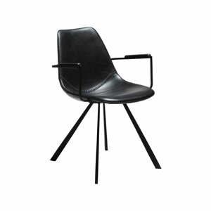Čierna jedálenská stolička s opierkami na ruky DAN-FORM Denmark Pitch
