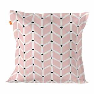 Ružová bavlnená obliečka na vankúš Blanc Blush, 60 × 60 cm