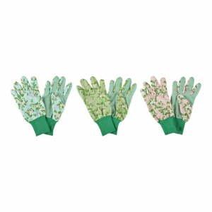 Sada 3 záhradných rukavíc Esschert Design Plaque Rose