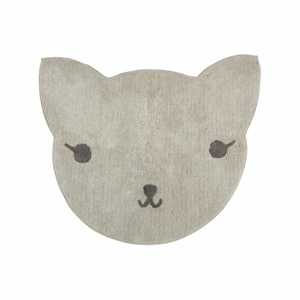 Koberec z bavlny v tvare mačky Nattiot, 85×100 cm