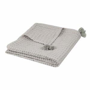 Sivý pléd z čistej bavlny Nattiot, 100×140 cm