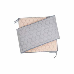 Bavlnená výstelka do postielky Nattiot Dots, 35×190 cm
