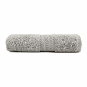Sivý bavlnený uterák Amy, 50×90cm