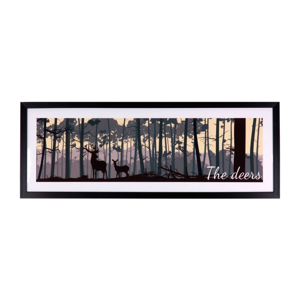 Obraz sømcasa The Deers, 80×30 cm