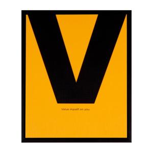 Obraz sømcasa Yellow V, 25×30 cm