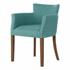 Svetlozelená stolička s tmavohnedými nohami Ted Lapidus Maison Santal
