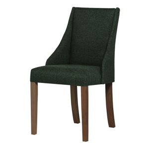 Tmavozelená stolička s tmavohnedými nohami Ted Lapidus Maison Absolu