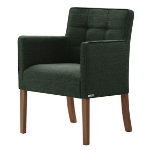Zelená stolička s tmavohnedými nohami Ted Lapidus Maison Freesia