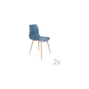 Sada 2 modrých stoličiek White Label Leon