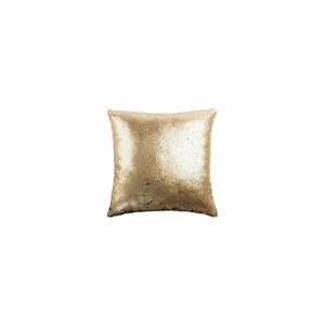 Vankúš v zlatej farbe White Label Lois, 45×45cm