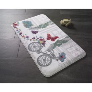 Vzorovaná predložka do kúpeľne Confetti Bathmats Spilled Flowers, 57×100cm