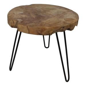Odkladací stolík z teakového dreva HSM collection Live Edge, 55×50cm