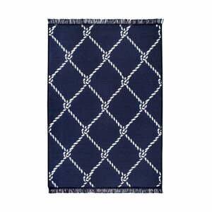 Modro-biely obojstranný koberec Rope, 120×180 cm