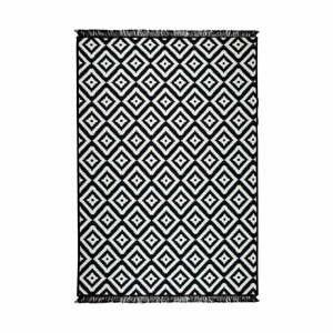 Čierno-biely obojstranný koberec Helen, 80×150cm