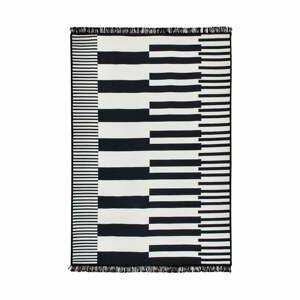 Čierno-biely obojstranný koberec Klotho, 80×150 cm