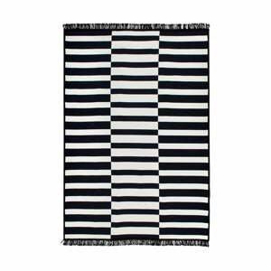 Čierno-biely obojstranný koberec Poros, 80×150 cm