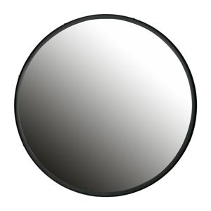 Nástenné zrkadlo s čiernym rámom WOOOD Lauren, Ø 80cm