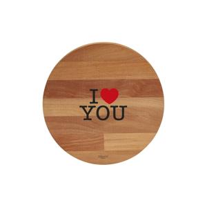 Doska na krájanie z bukového dreva Bisetti I Love You, 30 cm