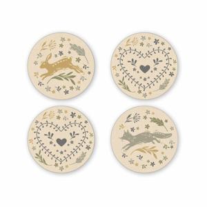 Sada 4 porcelánových tanierikov pod šálky Cooksmart England Foxy