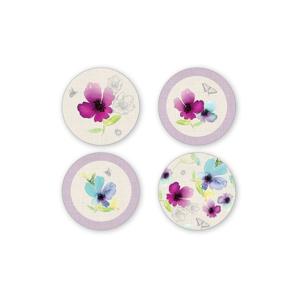 Sada 4 porcelánových tanierikov pod šálky Cooksmart England Chatsworth Floral