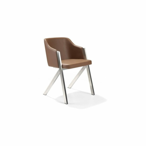 Hnedá stolička Ángel Cerdá Dining