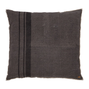 Tmavosivý vankúš BePureHome Coarse, 100 × 100 cm