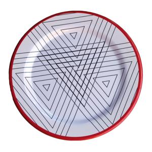 Sada 6 melamínových tanierov Sunvibes Maillon Rouge, ⌀ 25 cm