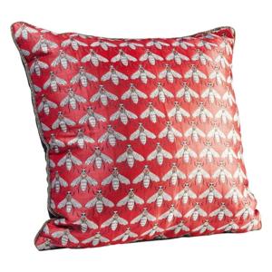 Červený vankúš Kare Design Bee, 45×45 cm