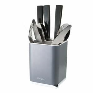 Sivý stojan na príbory Vialli Design Cutlery