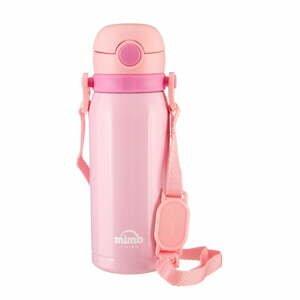Svetloružová termofľaša Premier Housewares Mimo Kids, 450 ml
