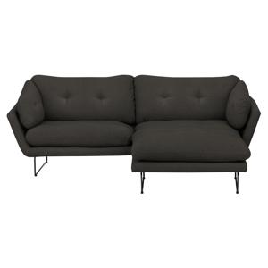 Set sivohnedej trojmiestnej pohovky a sedacieho pufu Windsor & Co Sofas Comet