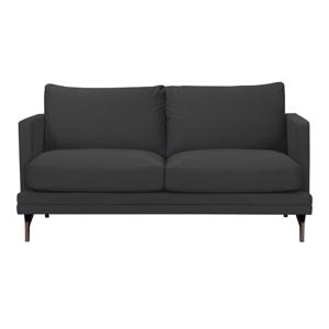 Tmavosivá dvojmiestna pohovka s podnožou v zlatej farbe Windsor & Co Sofas Jupiter