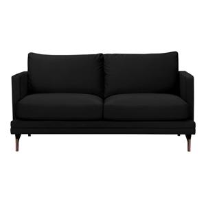 Čierna dvojmiestna pohovka s podnožou v zlatej farbe Windsor & Co Sofas Jupiter