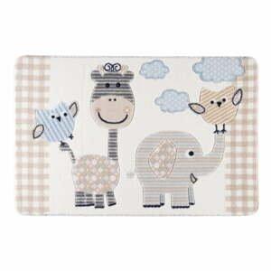 Detský béžový koberec Confetti Animal Kingdom, 133×190 cm