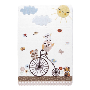 Detský biely koberec Confetti Sunny Day, 133×190 cm