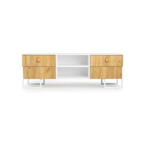 TV komoda so 4 zásuvkami z dubového dreva SKANDICA Hesse