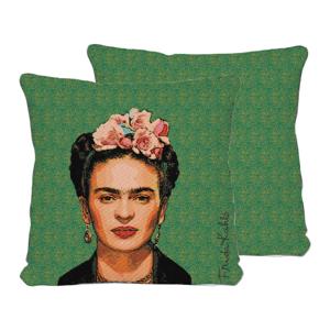Obojstranná obliečka na vankúš s ľanovou prímesou Madre Selva Frida Draw, 45×45 cm