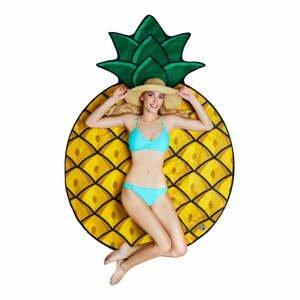Plážová deka v tvare ananásu Big Mouth Inc., ⌀152cm