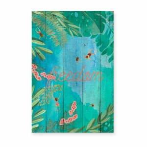 Drevená nástenná dekoratívna ceduľa Surdic Tabla Lago, 40×60 cm