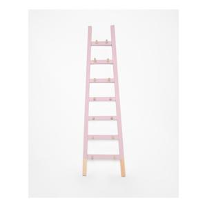 Svetloružový odkladací dekoratívny rebrík z borovicového dreva Surdic Rosa