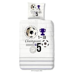 Detské bavlnené obliečky na jednolôžko Muller Textiels Champion, 140 × 200 cm