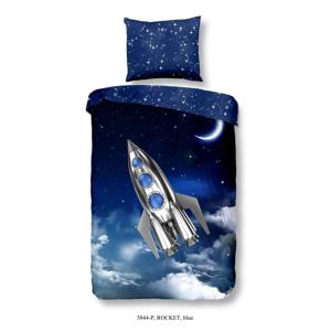 Detské obliečky na jednolôžko z čistej bavlny Muller Textiels Rocket, 140 × 200 cm