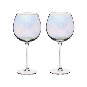 Sada 2 pohárov na víno s perleťovým efektom Kitchen Craft