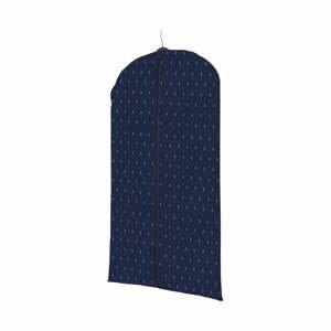 Tmavomodrý závesný obal na oblečenie Compactor Dots, dĺžka100 cm
