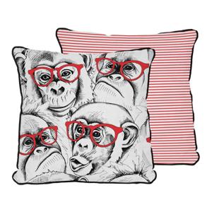 Obliečka na vankúš z mikrovlákna Really Nice Things Red Monkey, 45 × 45 cm