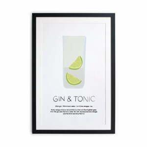 Zarámovaný plagát Really Nice Things Gin Tonic, 40 × 50 cm