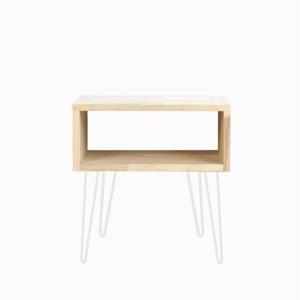 Odkladací stolík s bielymi nohami Really Nice Things, výška 63 cm