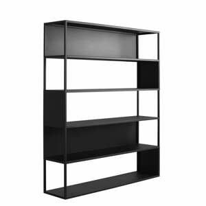Čierna knižnica Custom Form Hyller, 150×180 cm
